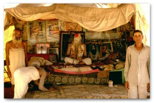 Saddhu in tent