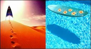 board-in-desert-water